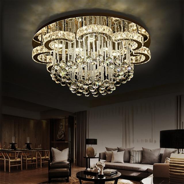 Moderne Kristall Kronleuchter K9 Kristall Luminaria 110 V 220 V  Hausbeleuchtung Wohnzimmer Kronleuchter Decke