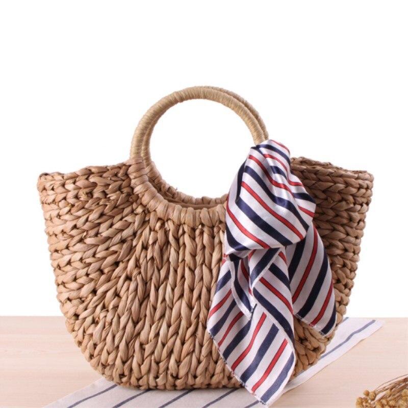 Beach Bag 2017 Summer Big Straw Bags Handmade Woven Tote Women Travel Handbags Luxury Designer Vintage Shopping Hand Bags