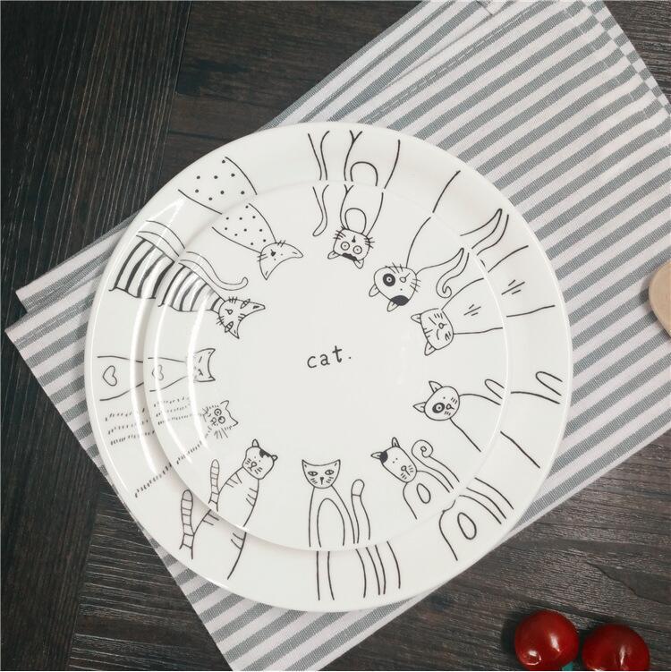 Kitty Cat Ceramic Plates
