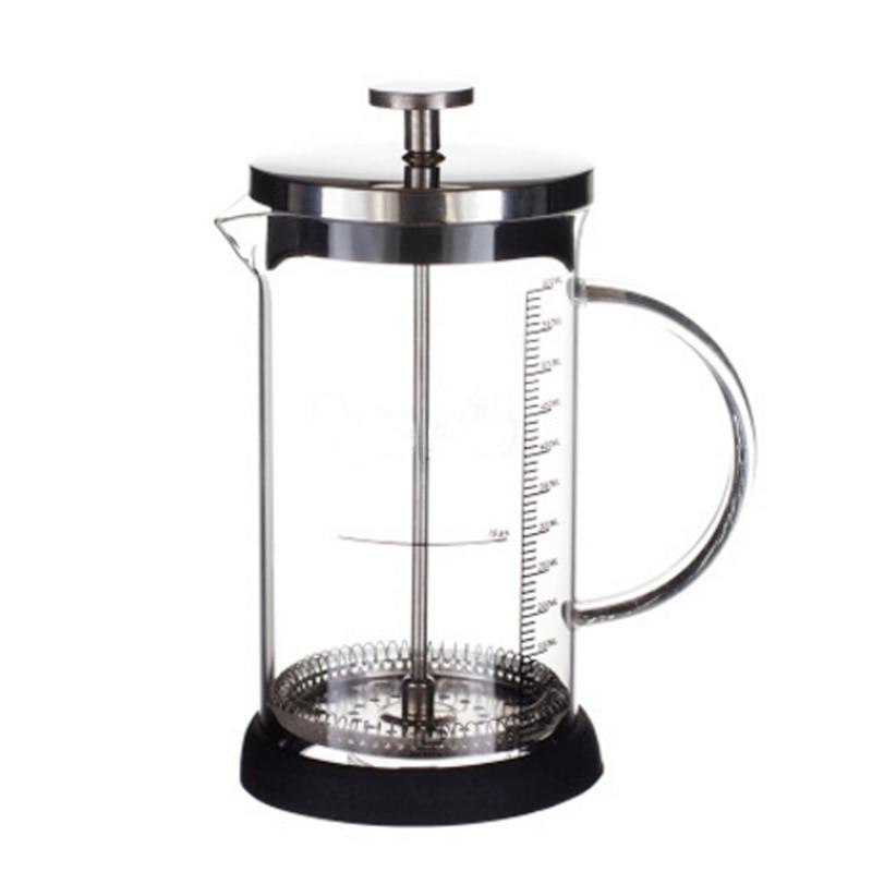 Coffee Maker French Hand Press 350ML 600ML Cafeteira Espresso Glass Stainless Steel Coffee Machine Filter Coffee Pot Percolator bodum travel press set coffee maker off white