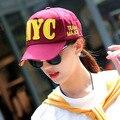 Kesebi 2017 Nueva Manera Caliente Del Verano Mujeres de Corea Cartas Bordado Ocasional Panelled Caps Mujer Básico Clásico Gorras de Béisbol