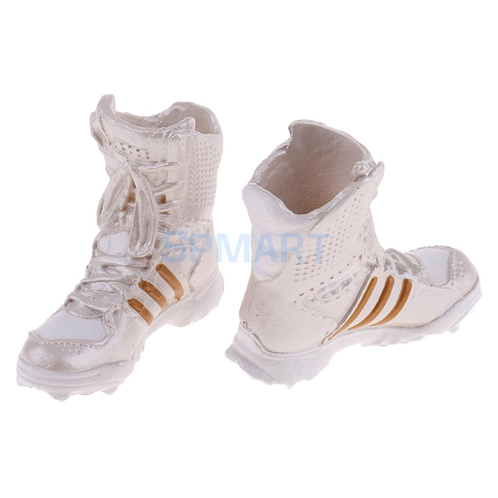 "1//6 Scale Shoes Model Combat Boots for 12/"" Female Action Figure Body Beige"
