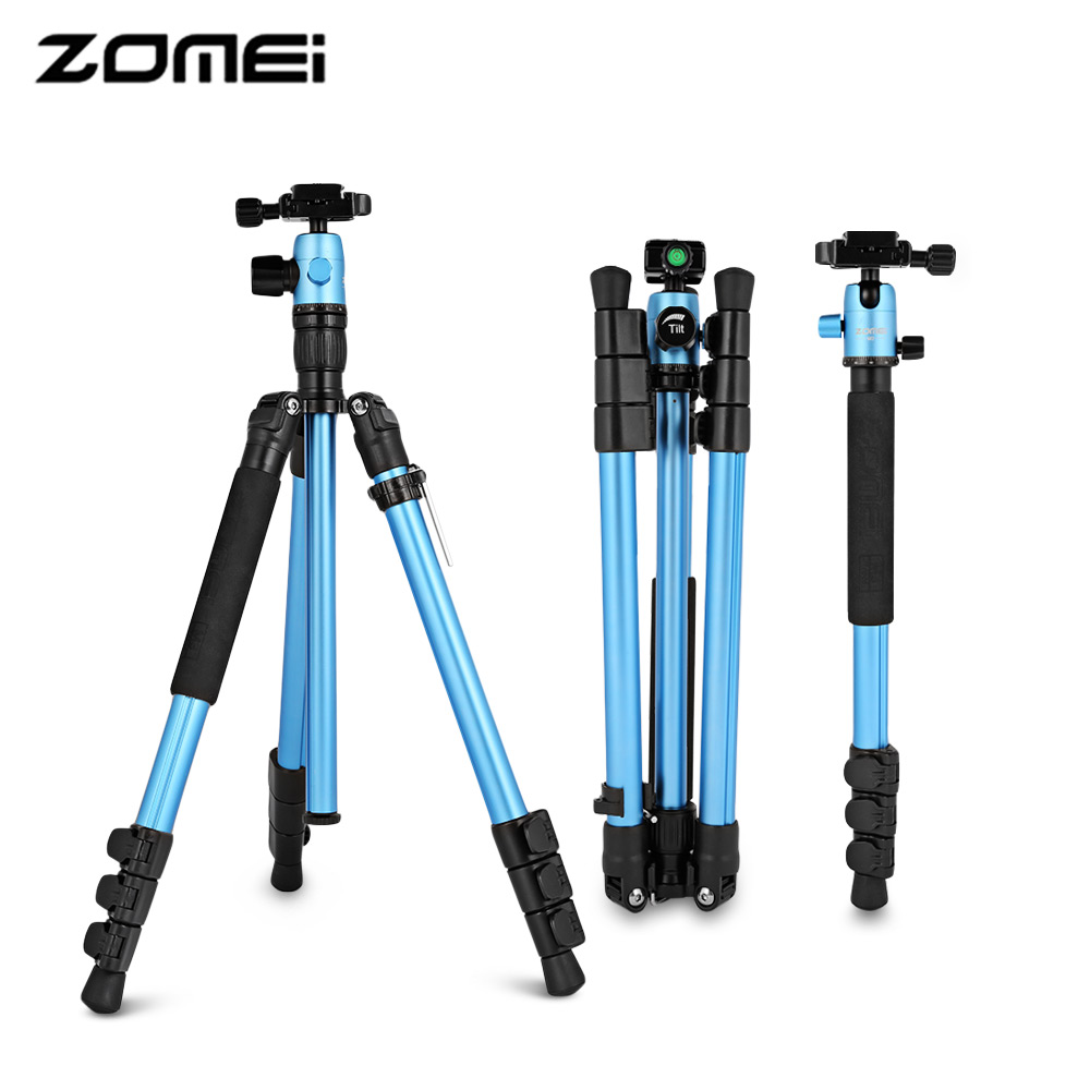 Zomei M3 Tripod For Camera Lightweight Aluminum Portable Tripods With Monopod Function Travel Tripod Accessories For SLR Camera tripod weifeng wf 3958m camera tripods monopod slr camera portable travel tripods support foot tripods