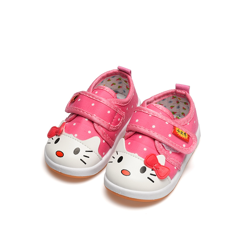 Lovely Hello Kitty Kids Girls Shoes Infant Toddler Soft Bottom Anti-skip First Walkers Cute Beautiful Girl Bebe Shoes
