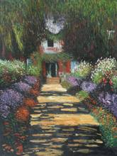 Monet's Garden Path at Giverny by Claude Monet Handpainted