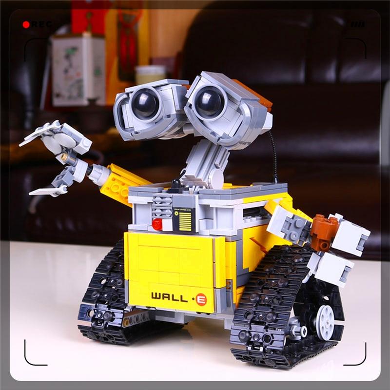 Lepin Building Blocks Robot WALL.E 687Bricks Assemble Toy Interlocking Construction Brinquedos For Children Compatible Legoe lepin 687pcs building blocks toy robot wall e diy assemble figure educational brick brinquedos for children compatible legoe