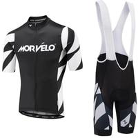 Morvelo Summer Cycling Jersey set Maillot Ropa Ciclismo Cycling Bicycle Clothing MTB Bike Clothes Uniform Cycling Set
