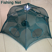 Promotion Automatic Fishing Net Shrimp Cage Nylon Foldable Crab Fish Trap Cast Net 6 Holes Large Cast Fishing Network