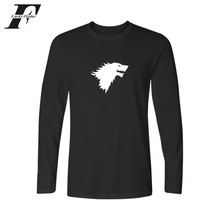 LUCKYFRIDAYF Famous Brand Game of Thrones 4xl Cotton Long Sleeve T Shirt Men and T shirt