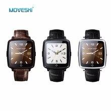 Moveski UW11C SmartWatch Bluetooth Relógio Inteligente Telefone Leather Strap Suporte Do Cartão SIM, o Jogo de Vídeo para IPhone/Samsung/Xiaomi