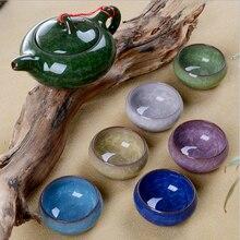Alta calidad 7 unids hielo grieta Tea Pot Set clásica 6 tazas de té y 1 té olla kung fu juego de té
