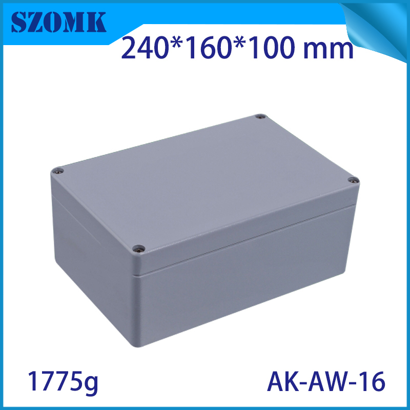 Aluminum Exterior Electrical Enclosure Outdoor Waterproof Use for Electronics PCB Box Connection Junction Box Project Case 1pcs universal waterproof abs plastic 318x236x155mm junction box project enclosure diy outdoor electrical connection cable box