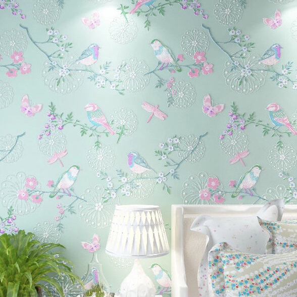 Merveilleux Modern Bird Wallpaper Home Decor Flower Wall Paper Non Woven Wallpaper 3D  Background Wallpaper Living Room Mural Wallpaper Roll In Wallpapers From  Home ...