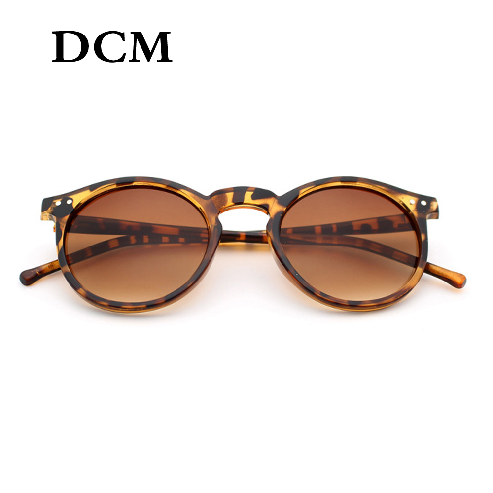 DCM New Round Frame Sunglasses Women Retro Brand Designer Pink Black Blue Sun Glasses Female Outdoor Driving UV400