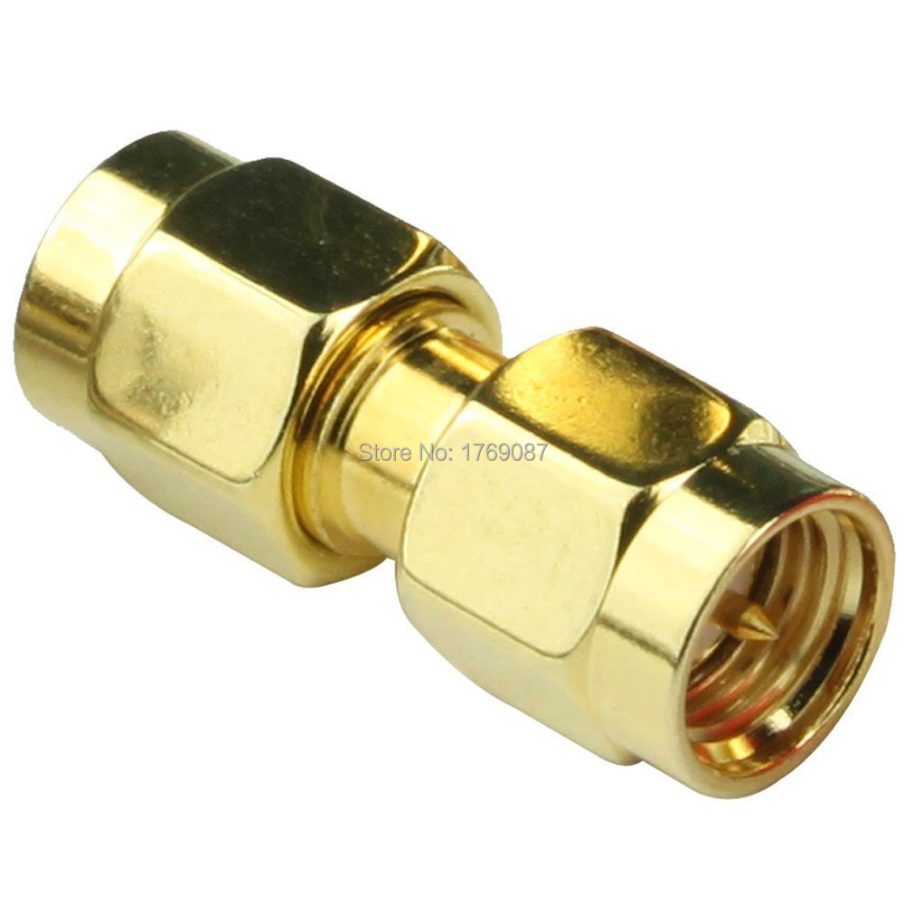 100PCS SMA Male to SMA Male Plug In Series RF Coaxial Adapter Connector