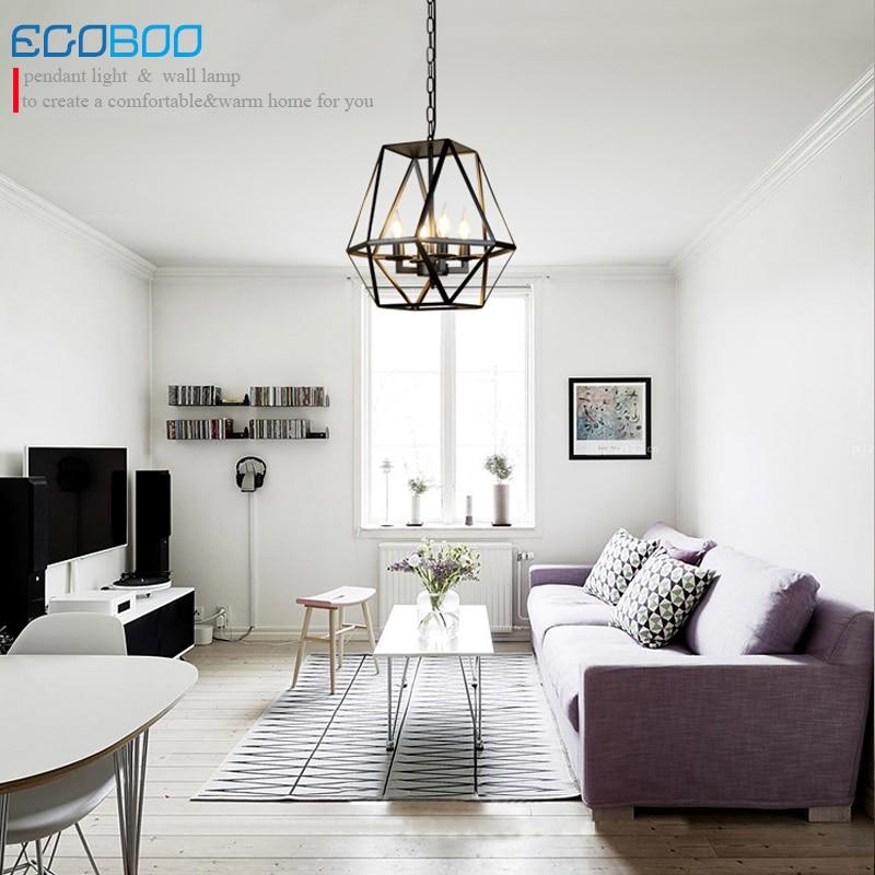 Loft Nordic retro iron chandelier personalized creative American industrial wind living room bedroom restaurant bar table lamp