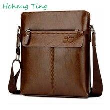 Men Bag Leather Famous Men Shoulder Messenger Bag KANGAROO Designer Black Casual Crossbody Bag Business Briefcase Bolsa