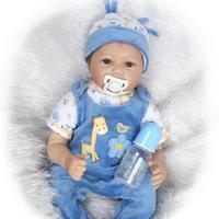 Najnowszy 22 cali Reborn Babies Przyjęcie Chłopiec Symulacji Play House Sztuczne Full Body Edukacyjne Zabawki Hurtownia