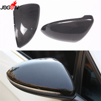For VW Volkswagen Golf 7 MK7 MK7.5 R GTI GTE GTD VII 2013 2018 Carbon Fiber Side Wing Rear View Rearview Mirror Cover Case Shell