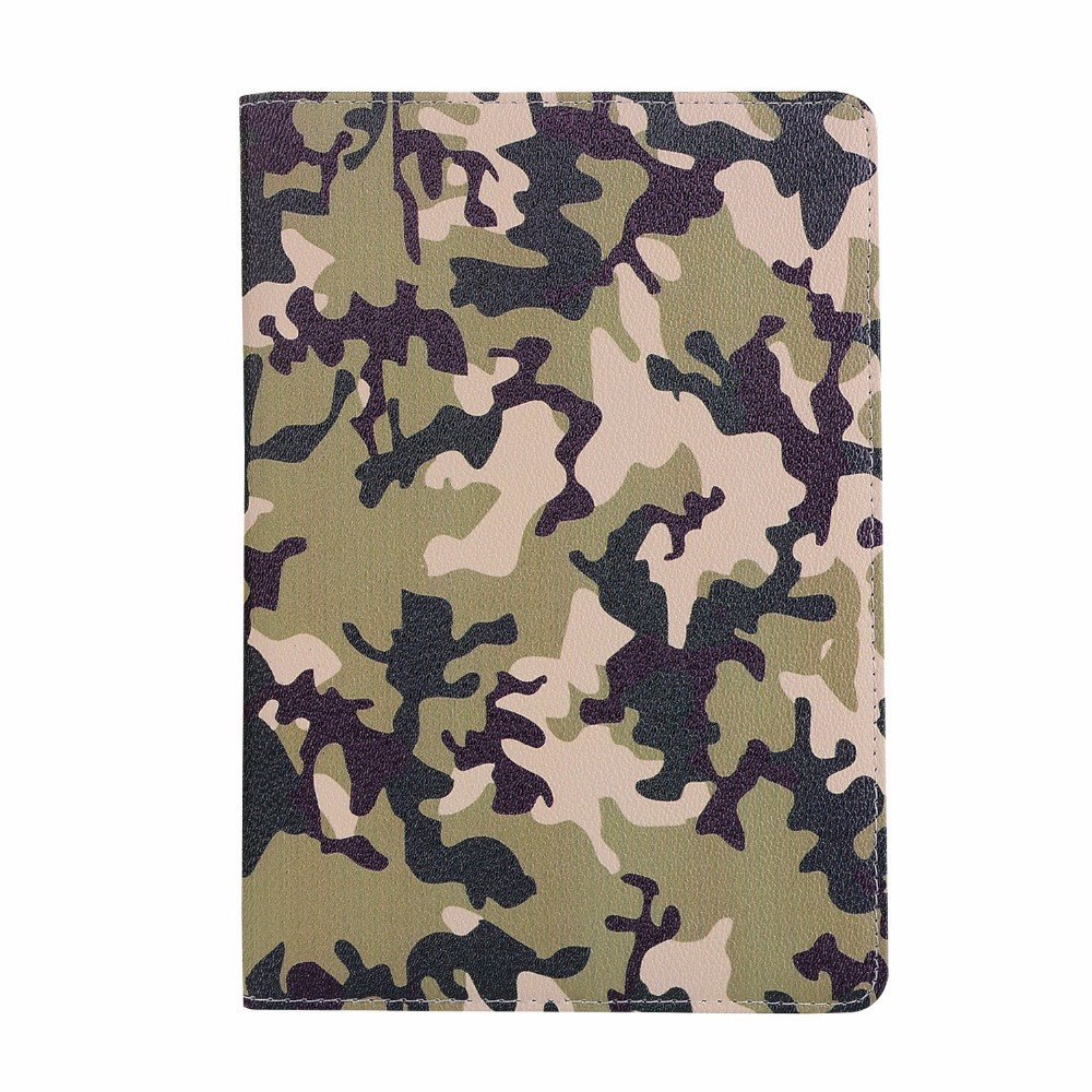 "20pcs/lot Camouflage Support TPU+PU pouch leather cover case for ipad 2 3 4 5/air 6/air 2 9.7 2017 2018 Pro 9.7"" 10.5"" shell"
