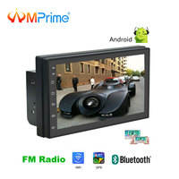AMPrime 2din Car Radio Android 7 MP5 Multimedia Player Mirror link 2 Din Touch screen GPS Bluetooth FM WIFI auto audio player