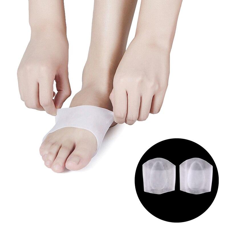 Plantillas ortopédicas de Gel de silicona Pies planos arco soporte corrección y cuidado de Pies Ortopedik Tabanlik Plantillas Para Los Pies