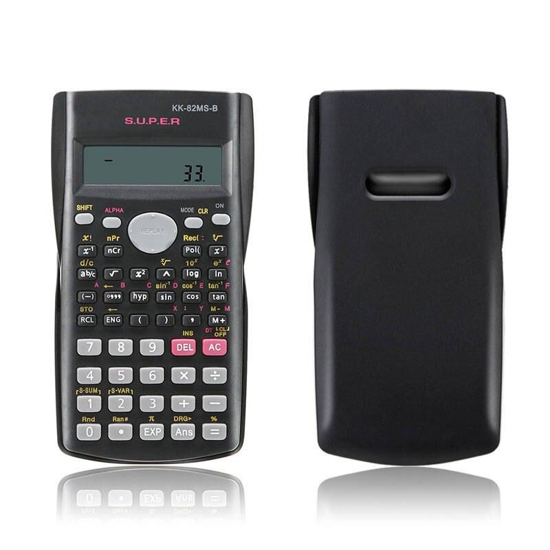 Ручной студента научный калькулятор 2 линии Дисплей 82MS-A Портативный многофункциональный калькулятор для преподавания математики