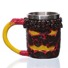 3d Personalized Skull Mug for Coffee Beer Tea Cool Stainless Steel Cup Gift Men Home Party Creative