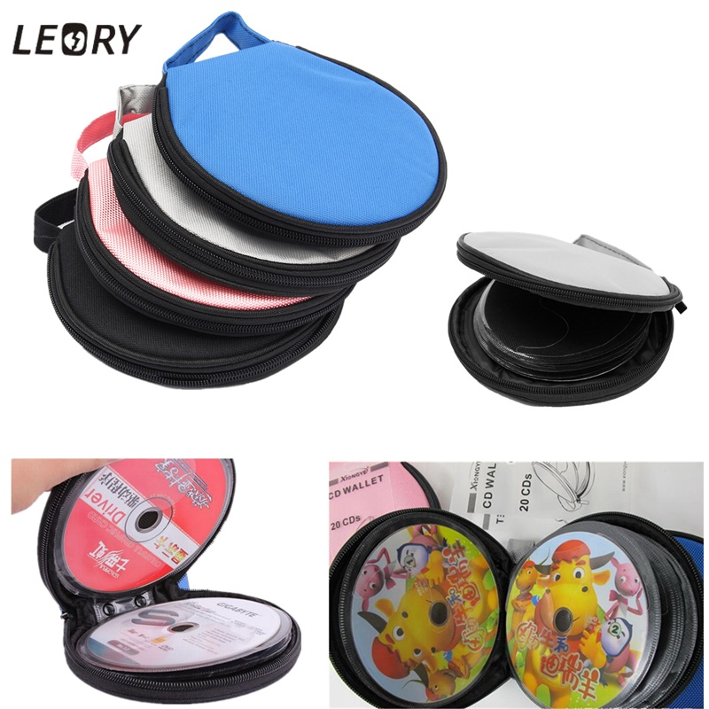 LEORY 4 Colours Portable Game CD DVD DISC Slots Clear Cover Storage Case Wallet Bag Organizer Holder Wallet Storage Sheet Packs