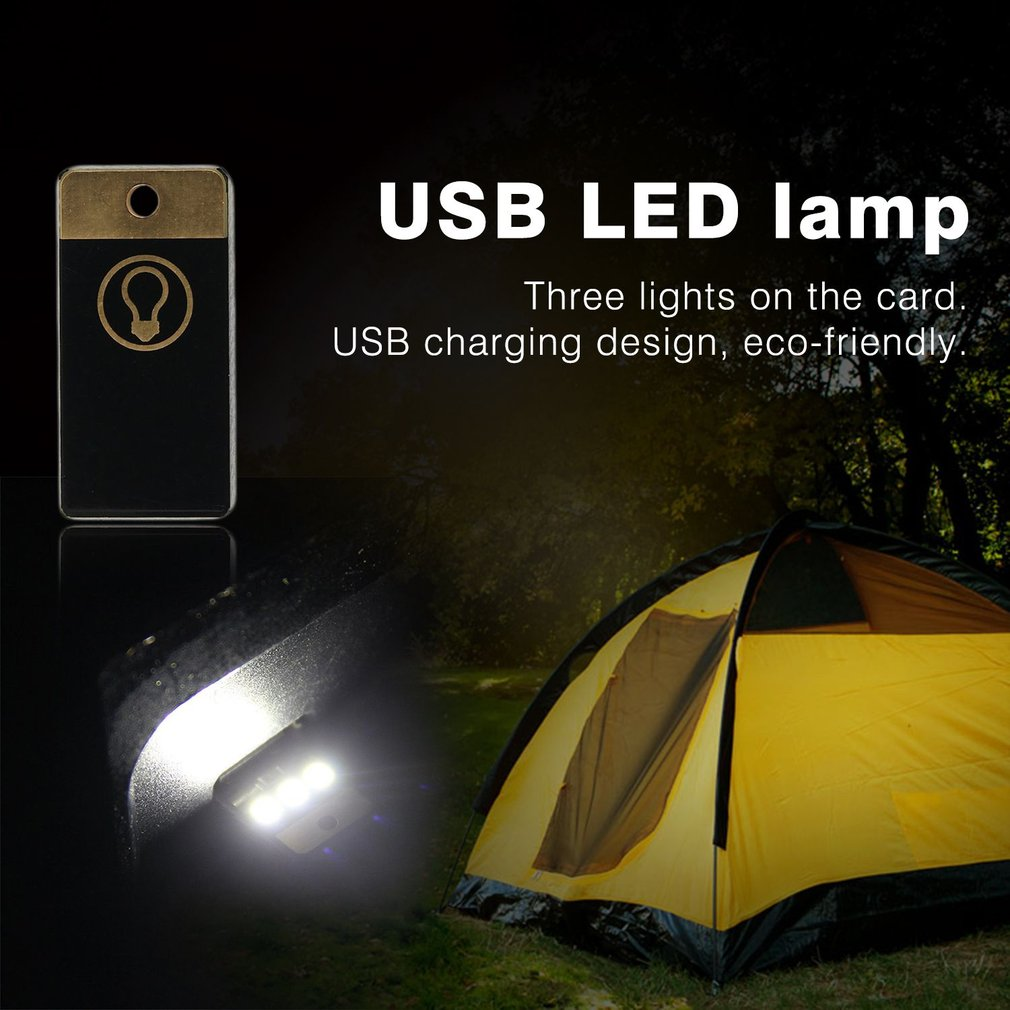 High Quality Mini Pocket USB Charging LED Light Lamp Outdoor Night Sports Camping Hiking Tent Emergency Light Accessories