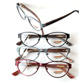 2016 new cat eye myopia glasses frame full rim women fashion eyeglasses frame oculos de grau Demo Lens optic Retail  with case
