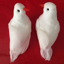 9*3*4CM,10PCS Decorative Mini Doves Artificial Foam Feathers White Birds With Magnet,Craft Bird For Home Ornaments,Wedding Decor