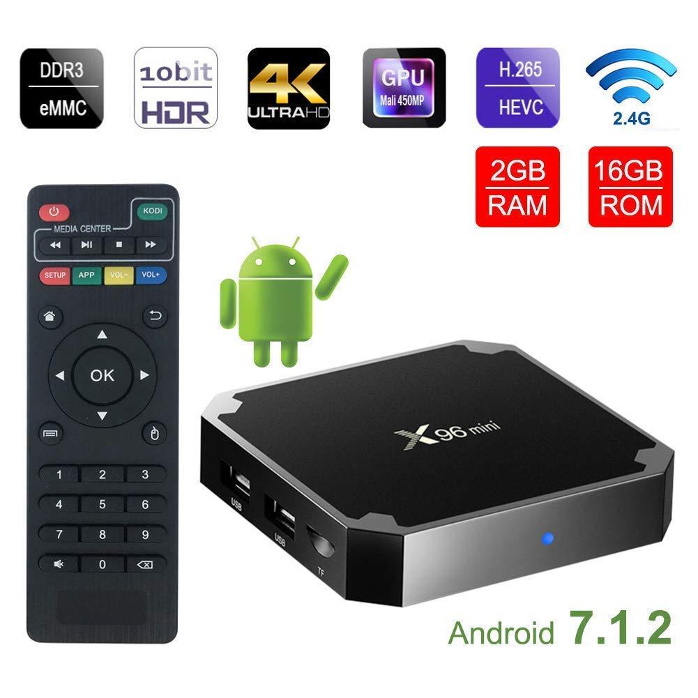 2018 android 7.1 tv box X96 mini WiFi 2GB 16GB Amlogic 8GB S905W tvbox Quad Core WiFi Media Player X96mini smart Set-top tv Box