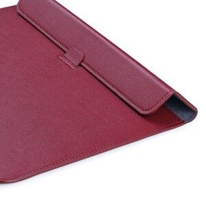 Image 2 - Кожаная сумка для ноутбука Macbook Air PRO 13, чехол 11 12 15, чехол для ноутбука из искусственной кожи, ультрабук, сумка для переноски