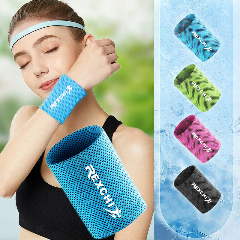 2019 New Ice Cold Crossfit Wristband Quick-drying Nonslip Wrist Wrap Sweatbands For Running New Fitness Sports Hand Bracers