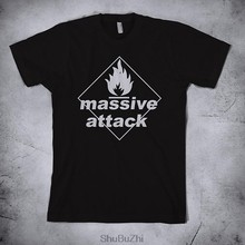 men summer style tshirt cotton top tees Massive Attack - t shirt for male new brand tee-shirt gift tops(China)