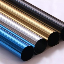 Silver Solar one way mirror Window Film glass sticker Privacy Anti UV Reflective Blue Gold Tint Room Building Office Home Decor film tint solar gold silver mirror effect for window building vlt 15% 1 52mx30m 5ftx100ft