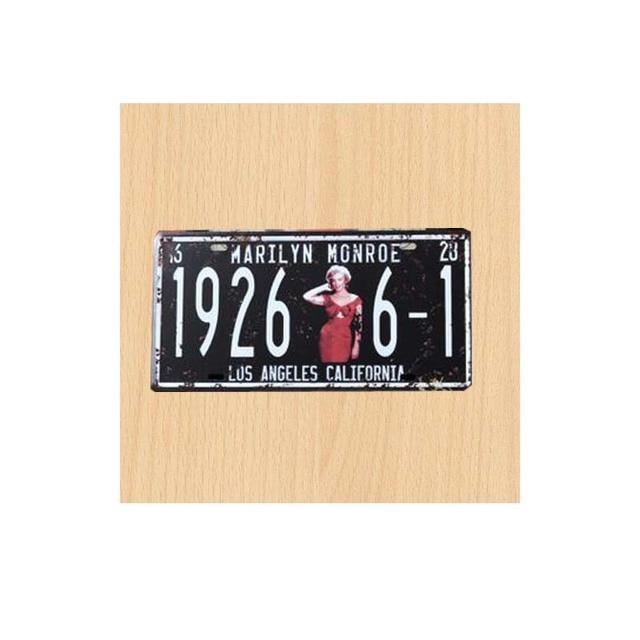 30x15cm Car Licens Marilyn Monroe 1926 6 1 Los Angeles California ...