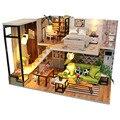 Кукольный домик «сделай сам»  деревянный миниатюрный кукольный домик  игрушки С Пылезащитным покрытием  мебель  светодиодные лампы  детски...