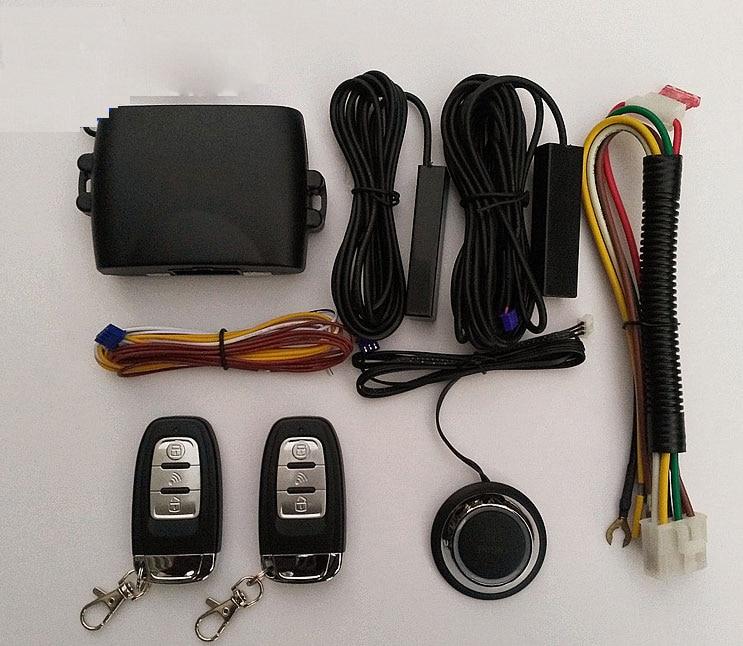 imágenes para Sistema de Alarma Del Coche de PKE Entrada Sin Llave Universal Inicio Seguridad Integrada Función de Bloqueo de Empuje Botón de Bloqueo Central Remoto de Arranque y Parada Automática