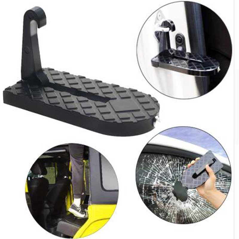 Dropship Folding Vehicle Rooftop Roof Rack Assistance Swift Door Step Hooked On Car SUV 4X4 Slam Latch Doorstep Safety HammerDropship Folding Vehicle Rooftop Roof Rack Assistance Swift Door Step Hooked On Car SUV 4X4 Slam Latch Doorstep Safety Hammer
