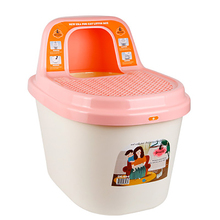 Plastic Indoor Cat Large Litter Sand Training Box Top Semi-Closed Reusable Tray Cat Products Arenero Gato Pet Potty 6d0063