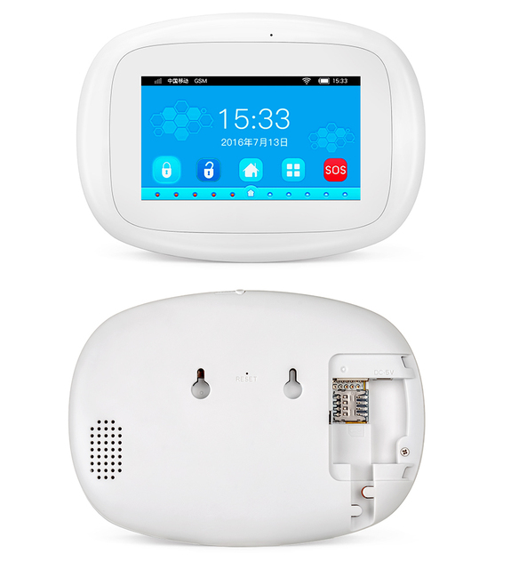 KERUI K52 Wireless Smart Home WIFI GSM Alarm System Smoke Fire APP Control Security  Door Sensor Detector Surveillance IP Camera 2