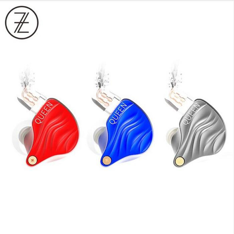 The Fragrant Zither TFZ QUEEN 2Pin Interface Metal HIFI Monitor IEM 3.5mm In Ear Sports Music Dynamic DJ Stage Earphone