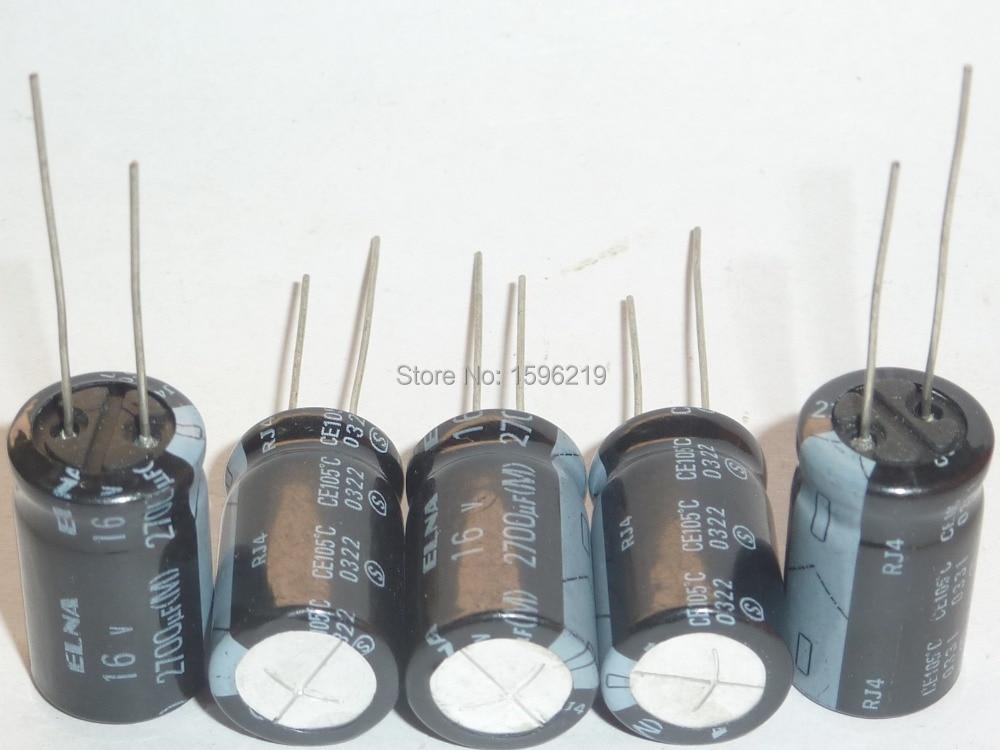 5pcs 2700uF 16V Japan ELNA RJ4 Series 12.5x22mm 16V2700uF Audio Capacitor