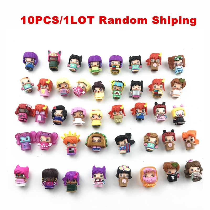 10Pcs/lot MMMQs My Mini Mixie Qs Anime Dolls Mixieqs Assembling Girl Model Capsule Toys Action Figures Mixieqs Gift