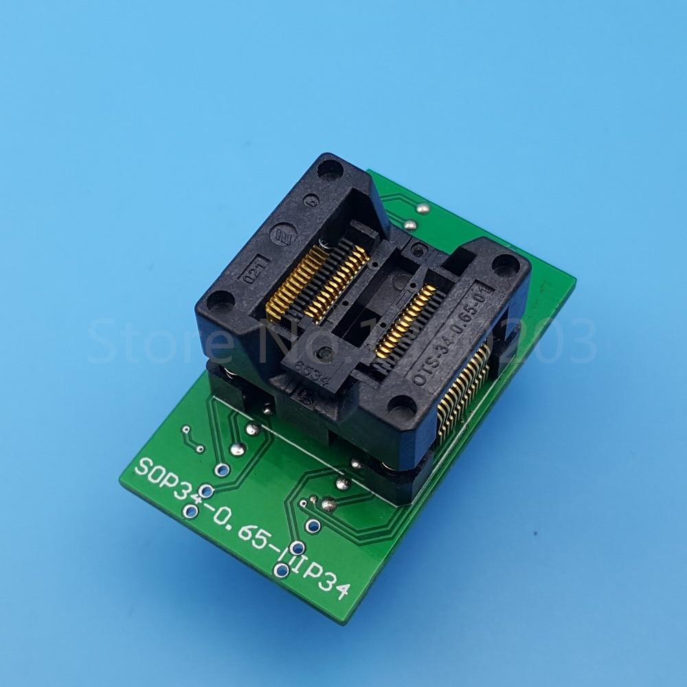 1Pcs SSOP28 TSSOP28 to DIP28 Pitch 0.65mm IC Programmer Adapter Test Socket