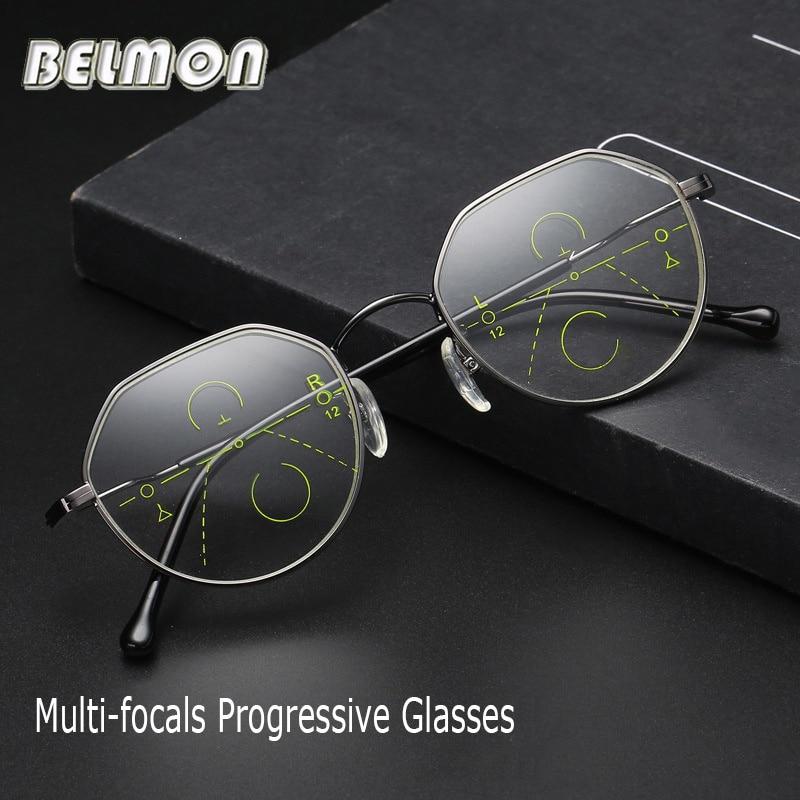 6af8987782cf1 Belmon Multi-Focal Progressiva Óculos De Leitura Das Mulheres Dos Homens  Dioptria Presbiopia Masculino Feminino