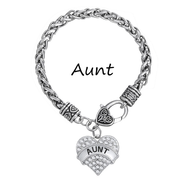 My Shape Whole Lot Silver Plated Aunt Charm White Bracelet Handmade Jewelry For Women
