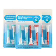 4000pcs Generic Sonic Electric Toothbrush Replacement Heads For Philips Sonicare Tooth Brush Children Soft Bristles HX6034